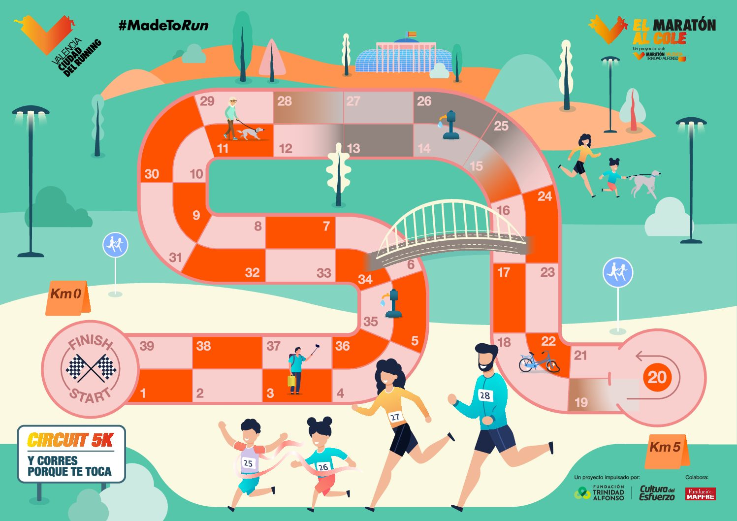 Un nuevo juego para disfrutar en familia: Circuit 5K y corro porque me toca